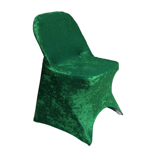 Velvet Spandex Folding Chair Cover Emerald Green