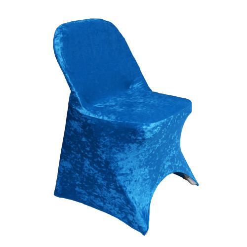 Velvet Spandex Folding Chair Cover Royal Blue
