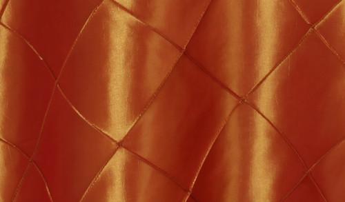 120 Inch Pintuck Taffeta Round Tablecloth Burnt Orange
