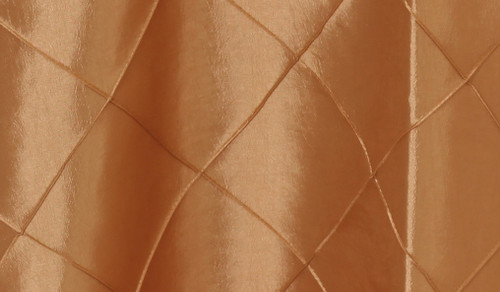 120 Inch Pintuck Taffeta Round Tablecloth Gold