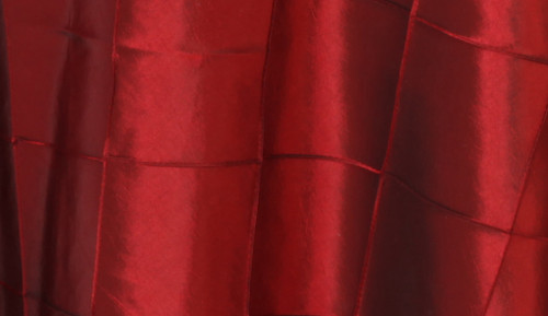 132 Inch Pintuck Taffeta Round Tablecloth Burgundy