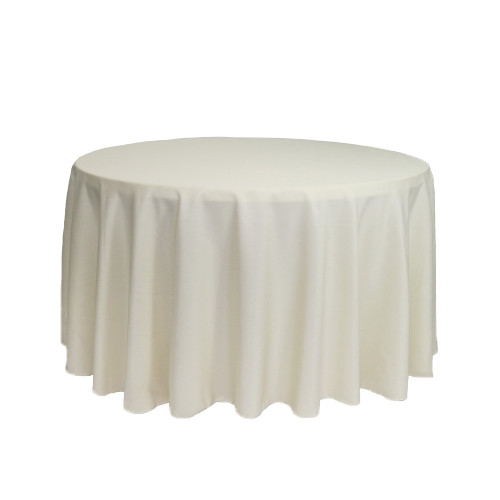 108 inch Round Polyester Tablecloths Ivory