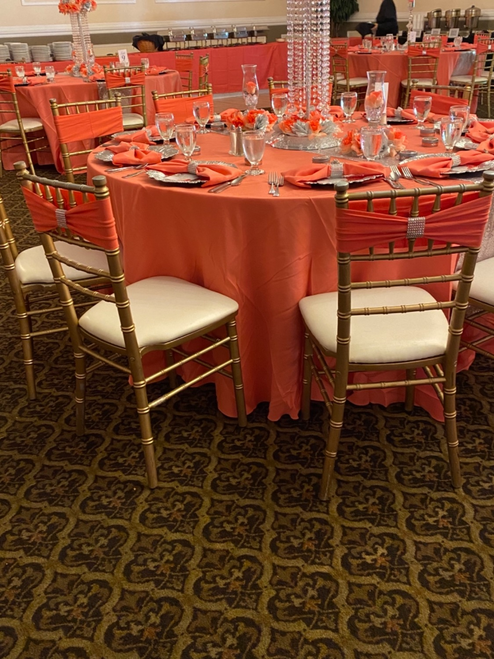 coral tablecloths
