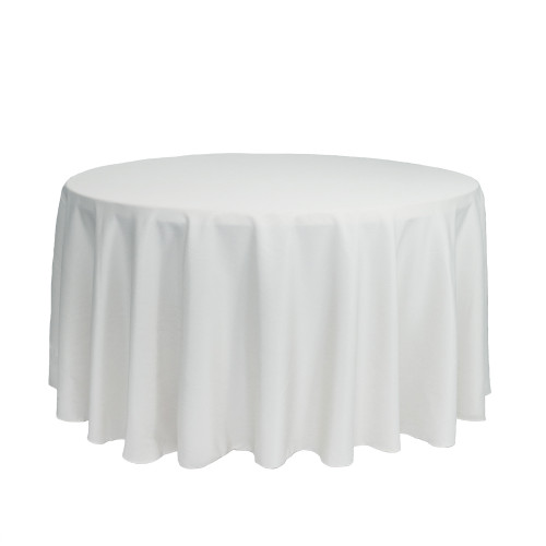 120 inch Round Polyester Tablecloths White