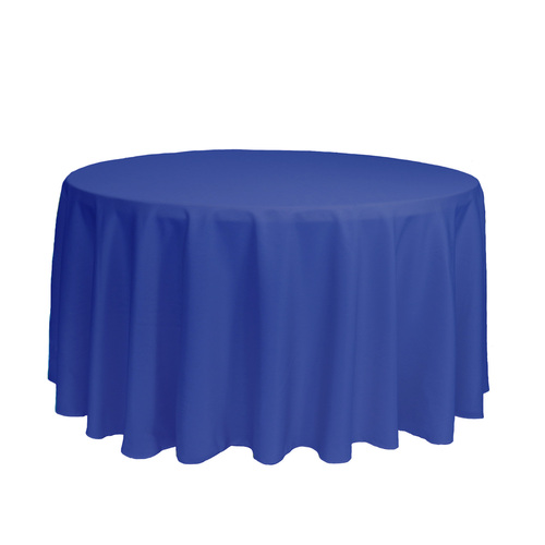 120 Inch Round Polyester Tablecloth Royal Blue