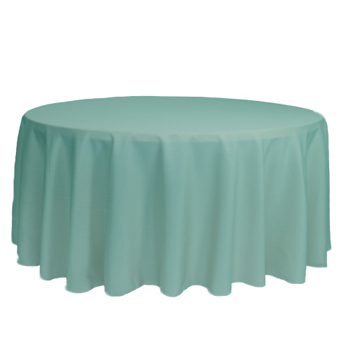 132 inch Round Polyester Tablecloths Tiffany