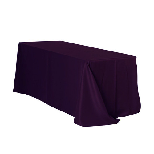 90 x 132 inch Rectangular Polyester Tablecloths Eggplant