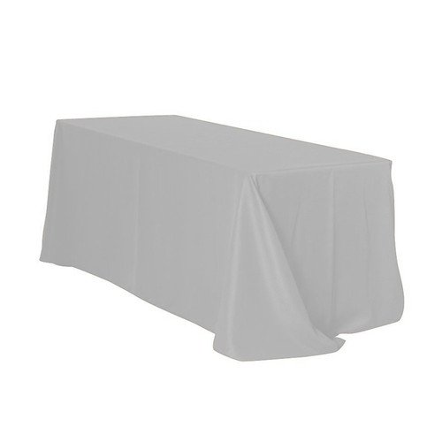 90 x 132 inch Rectangular Polyester Tablecloths Silver
