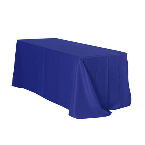 90 x 132 inch Rectangular Polyester Tablecloths Royal Blue
