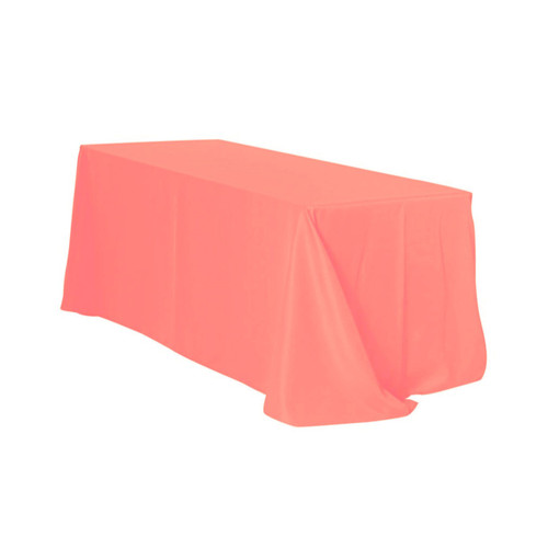90 x 156 inch Rectangular Polyester Tablecloths Coral