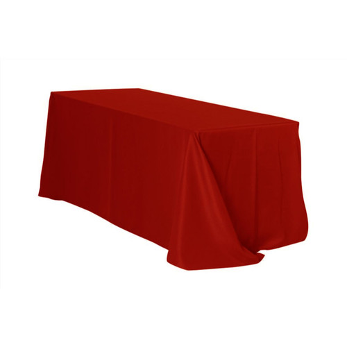 90 x 156 Inch Rectangular Polyester Tablecloth Dark Red