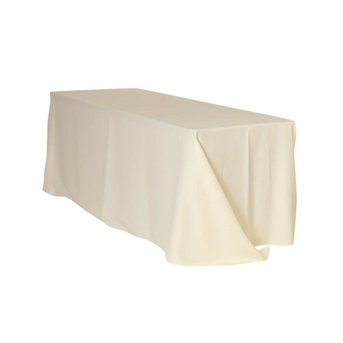90 x 156 Inch Rectangular Polyester Tablecloth Ivory