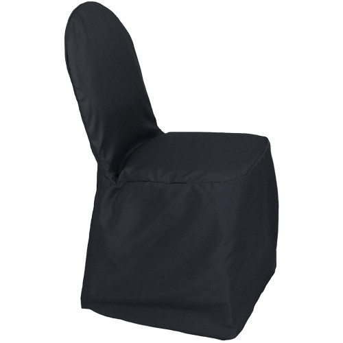 Polyester Banquet Chair Covers Black