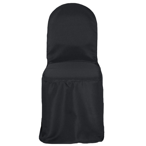 Wholesale Polyester Banquet Chair Covers Black