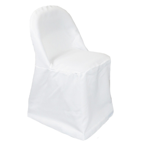 Polyester Folding Chair Covers White