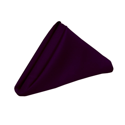 20 inch Polyester Cloth Napkins Eggplant