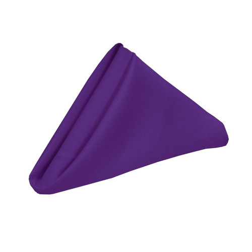 10 Pack 20 Inch Polyester Cloth Napkins Purple