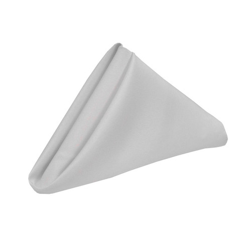 20 inch Polyester Cloth Napkins Silver