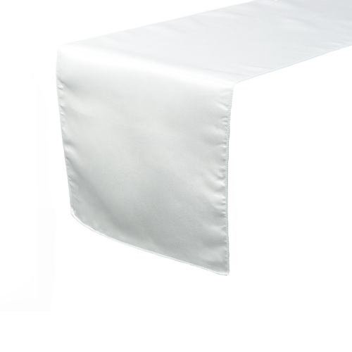 14 x 108 inch Satin Table Runners White