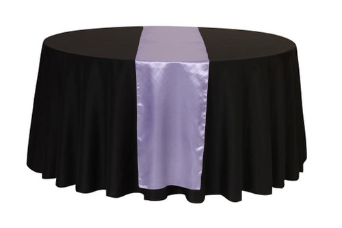 14 x 108 Inch Satin Table Runner Lavender
