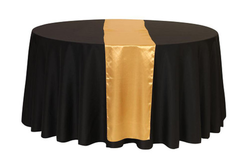 14 x 108 Inch Satin Table Runner Gold