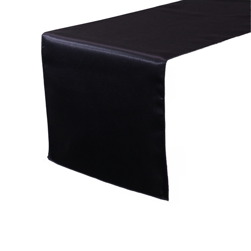 14 x 108 inch Satin Table Runners Black
