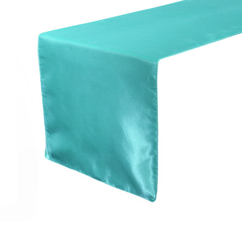 14 x 108 Inch Satin Table Runner Turquoise