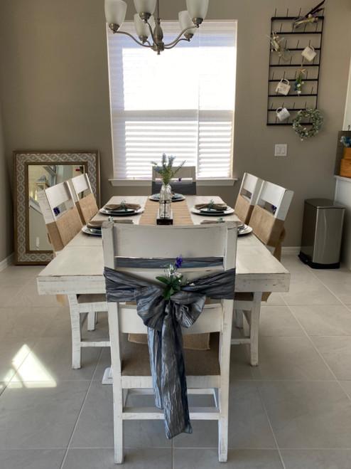 dark silver chair bows