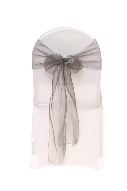 Organza Sashes Dark Silver