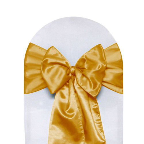 Satin Sashes Gold