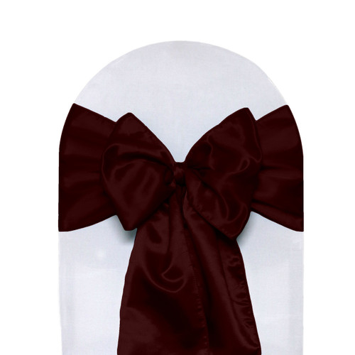 Satin Sashes Burgundy