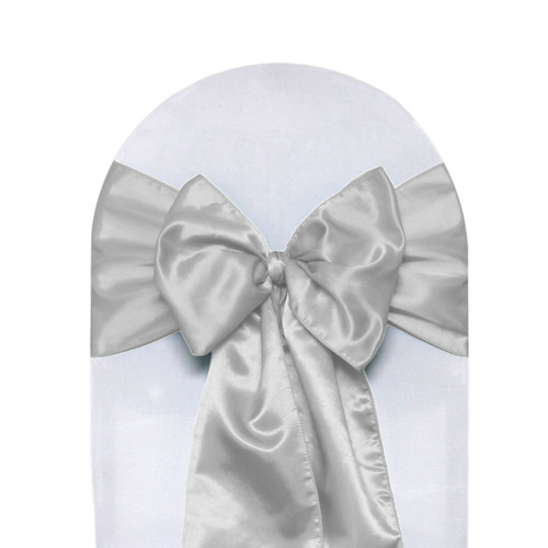 Satin Sashes Silver