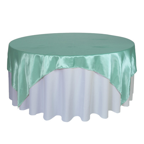 90 inch Square Satin Table Overlays Tiffany