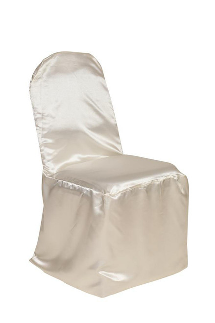 Wholesale Satin Banquet Chair Covers Ivory
