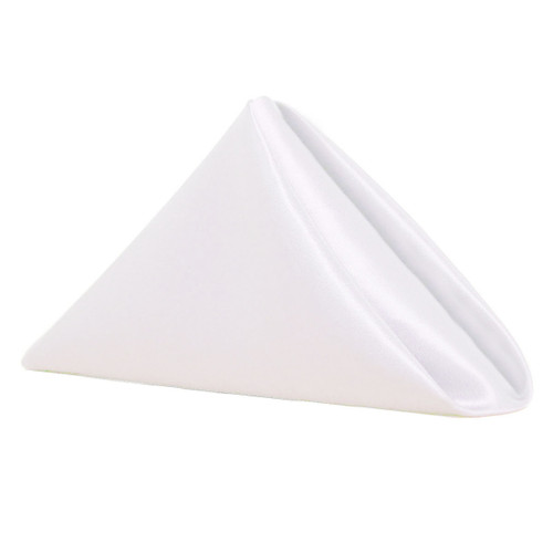 20 inch Satin Cloth Napkins White