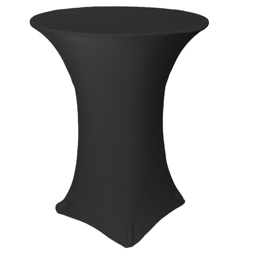 36 inch Highboy Cocktail Round Stretch Spandex Table Covers Black