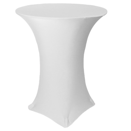 36 inch Highboy Cocktail Round Stretch Spandex Table Covers White