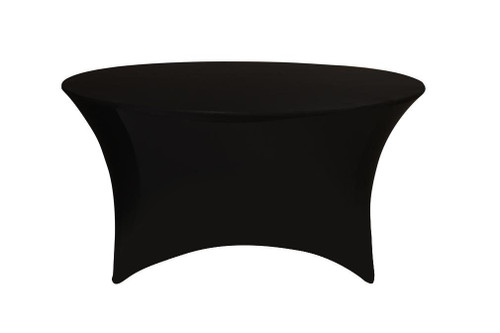 Stretch Spandex 5 ft Round Table Covers Black