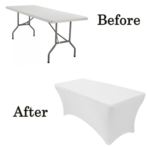 white lifetime folding table covers