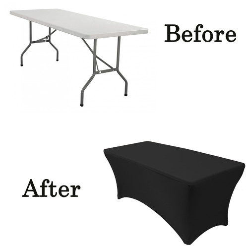 black lifetime folding table covers