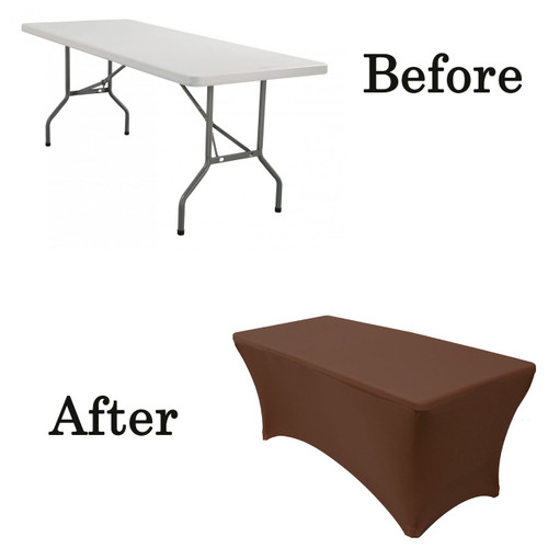 chocolate brown lifetime folding table covers