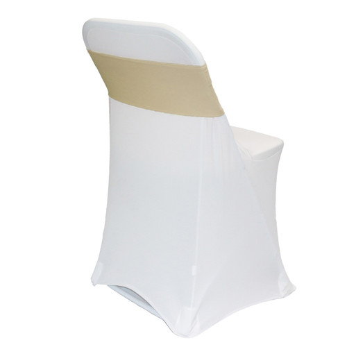 Spandex Chair Sashes Champagne