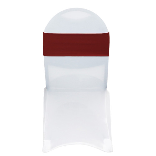 Stretch Spandex Chair Bands Burgundy