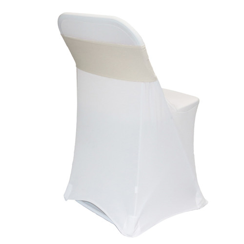 Spandex Chair Bands Ivory