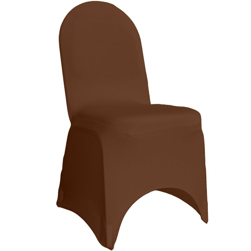 Stretch Spandex Banquet Chair Covers Chocolate Brown For Wholesale