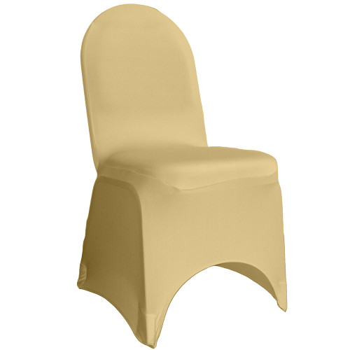 Spandex Banquet Chair Cover Champagne For Wholesale