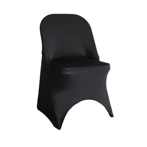 Stretch Spandex Folding Chair Cover Black