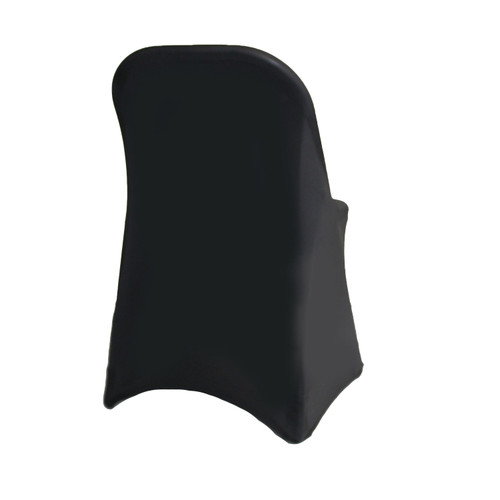 Stretch Spandex Folding Chair Cover Black For Hotels