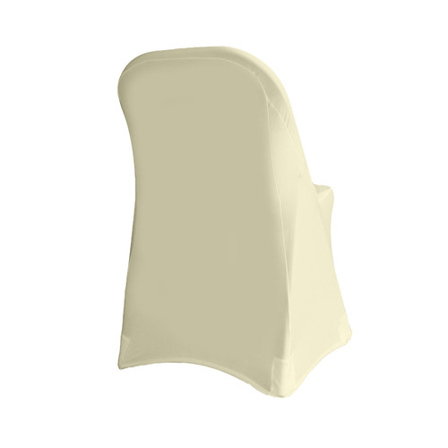 Stretch Spandex Folding Chair Cover Ivory For Weddings