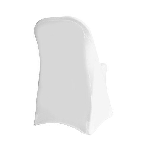 Stretch Spandex Folding Chair Cover White For Hotels